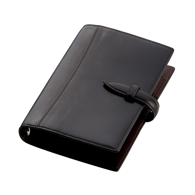 ブライドルレザー バイブルサイズ システム手帳 6穴20mm No.575